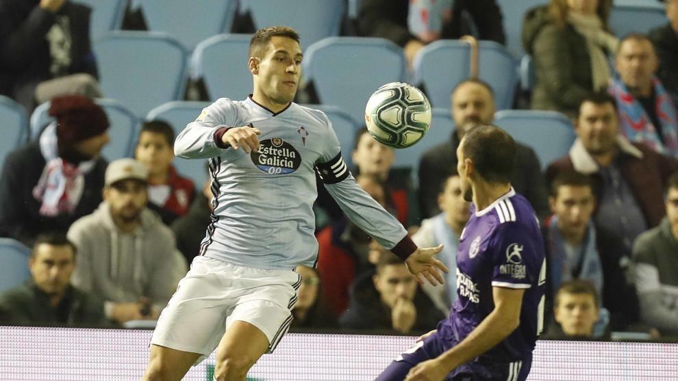 Hugo Mallo en un Celta-Valladolid.