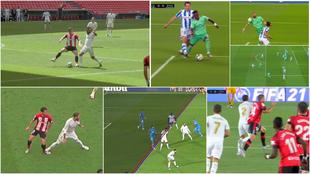 Las nueve jugadas polémicas del Madrid y las dos del Barça de las que se quejan los culés