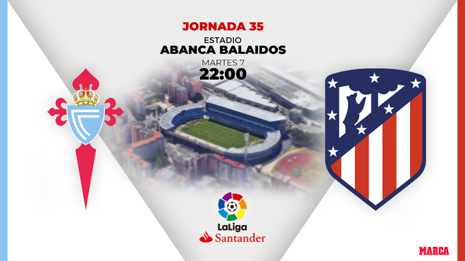 Atletico de Madrid hoy se enfrenta al Celta de Vigo en Balaidos a las...