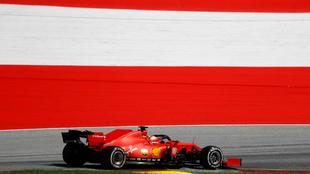 Vettel, durante el GP de Austria.