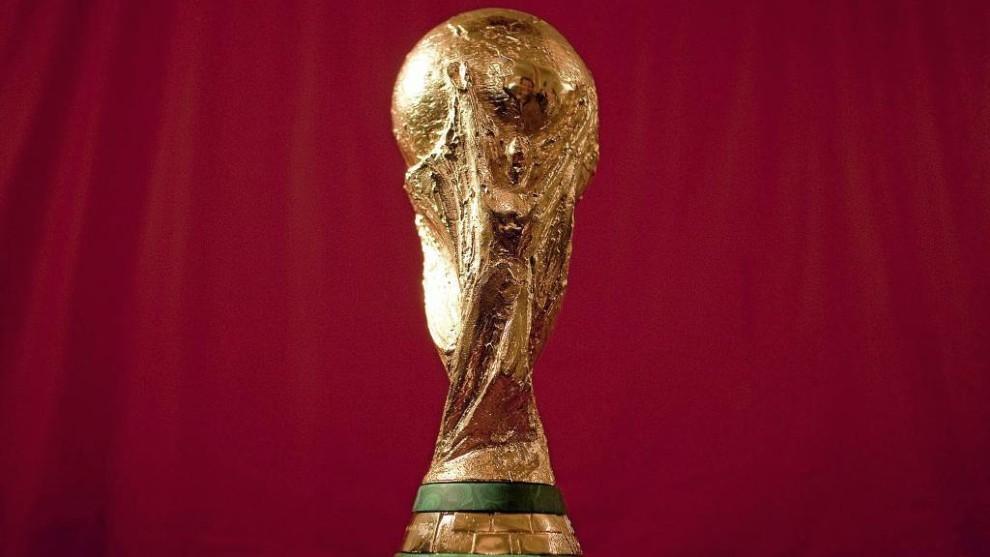 Trofeo de la Copa del Mundo conquistado por España en Sudáfrica.