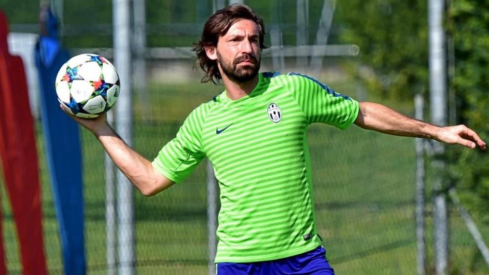 Andrea Pirlo, durante un entrenamiento con la Juventus.