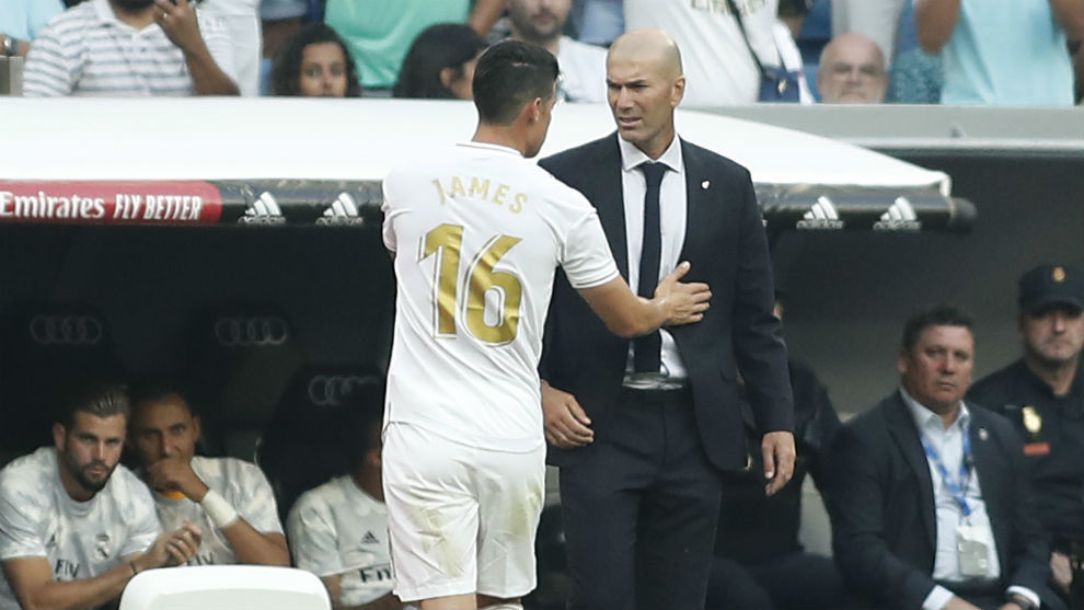 James and Zidane: The conversation which led to the Colombian being left out against Athletic