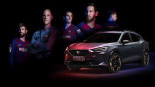 Cupra Formentor coche oficial del Fútbol Club Barcelona