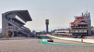 Una imagen del Circuit durante los test invernales.