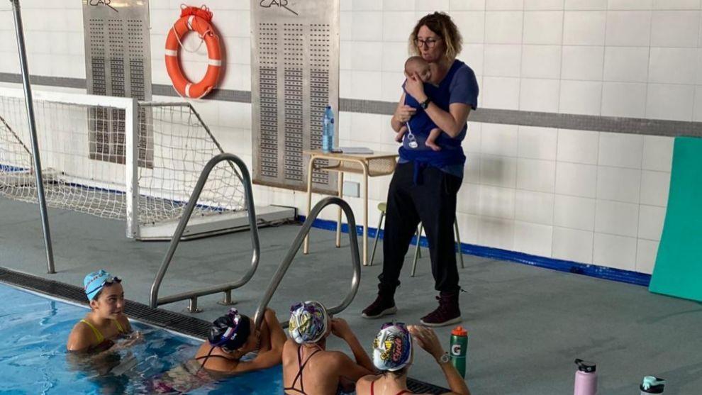 Para Irina Rodríguez la maternidad no es un obstáculo para seguir...