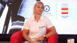 Lydia Valentín, en la presentación de la campaña 'Por una...