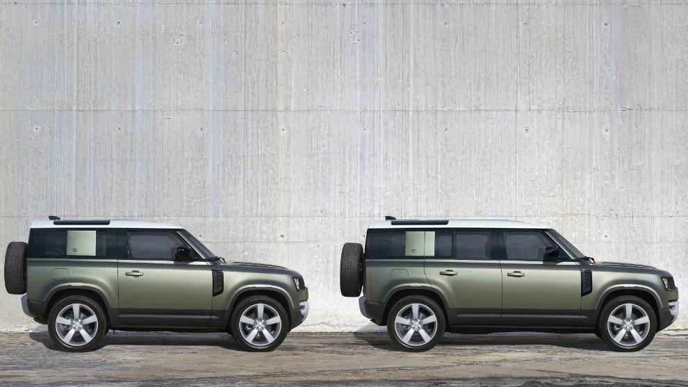 El nuevo Defender está disponible con carrocería corta (3 puertas) o larga (5 puertas).