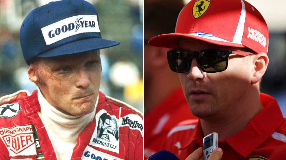 Niki Lauda y Kimi Raikkonen