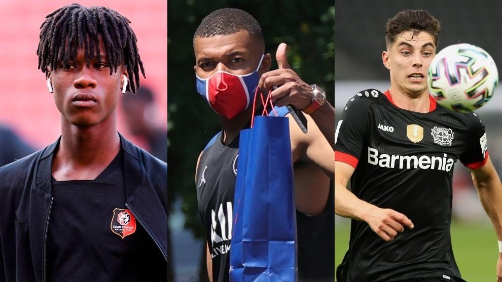 Camavinga, Mbappé y Havertz