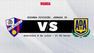 Huesca - Alcorcón: horario y donde ver por television hoy el partido...