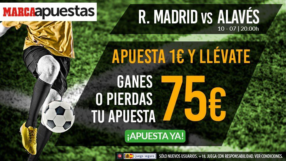 ¡¡Apuesta 1 euro en el Real Madrid - Alavés y llévate 75 ganes o pierdas!!