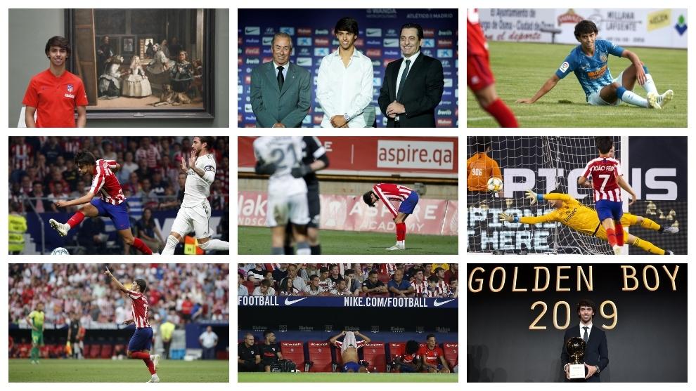 Joao Félix en varias imágenes de la temporada.