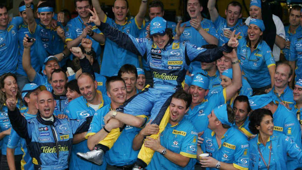 Alonso logró una gran identificación con Renault en su etapa...