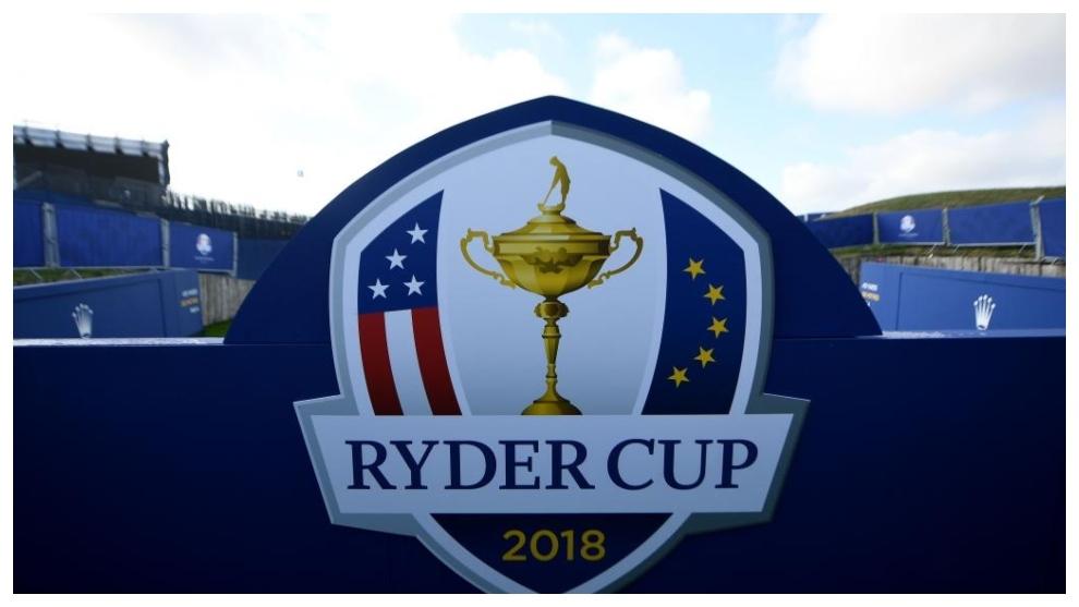 La tribuna de la Ryder Cup de París en 2018