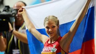 La saltadora de longitud rusa  Darya Klishina