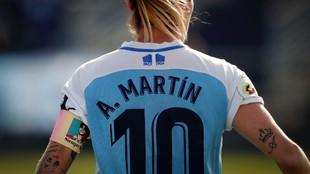 Adriana Martín en un partido con el Málaga esta temporada.