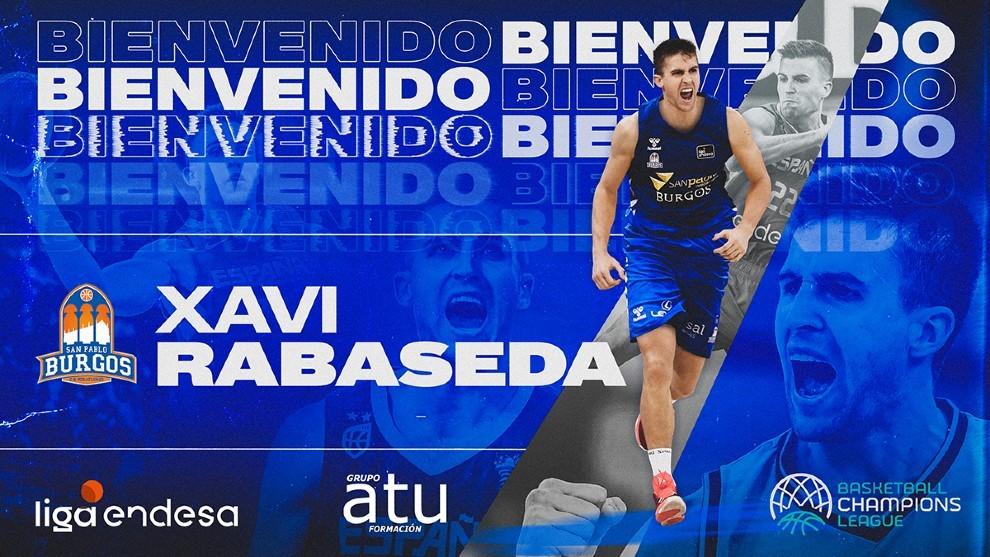 Xavi Rabaseda sale del Gran Canaria y ficha por el San Pablo Burgos