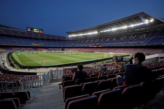 Así luce el Camp Nou.