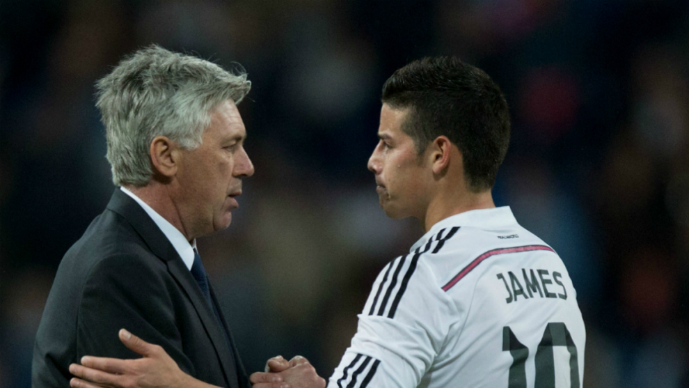 Ancelotti: I like James Rodriguez a lot, but I think he'll still be a Real Madrid player