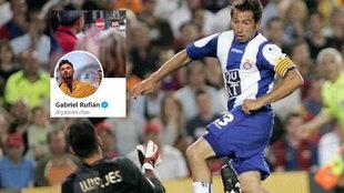 El tuit de Rufián tras el descenso del Espanyol con un dardo al Barça