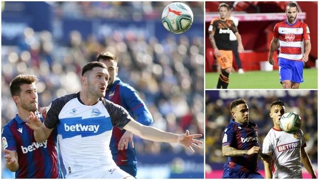 Alavés, Valencia, Levante, Granada, Mallorca...equipos de Primera con...