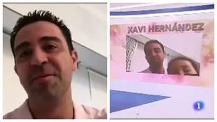 Xavi recuerda con emoción el Mundial 2010... y su hija se cuela en la videollamada