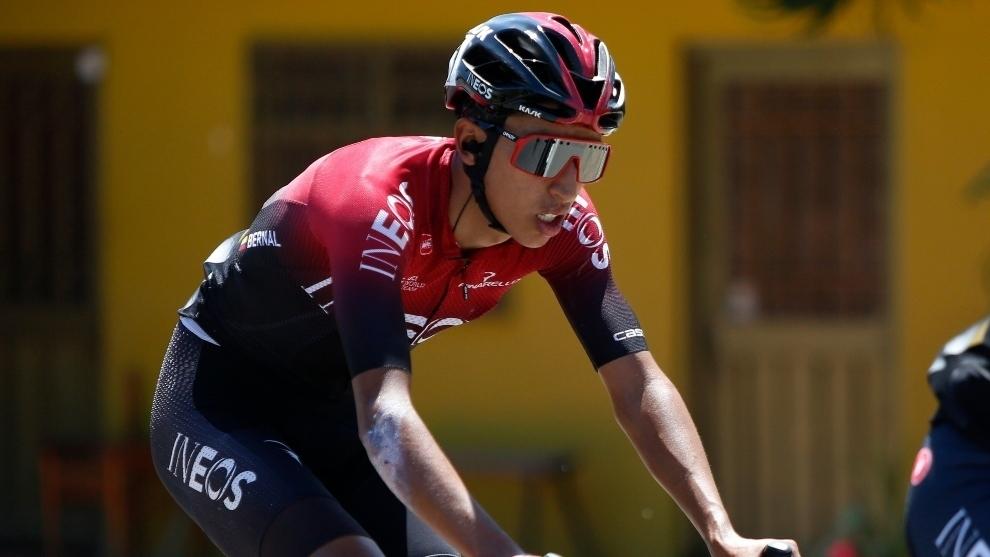 Egan Bernal, durante el Tour de Francia 2020.