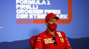 Sebastian Vettel, durante la rueda de prensa del GP de Estiria.