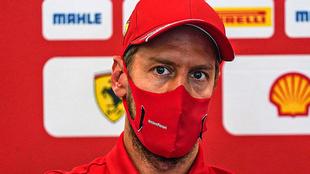 Sebastian Vettel en conferencia de prensa.