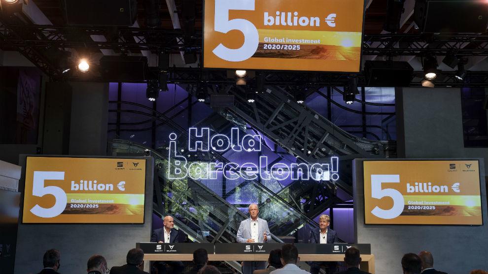 Seat invertirá 5.000 millones en España hasta 2025.