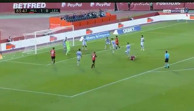 Imagen del gol de Kubo al Levante.