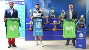 Dani Saldise, durante su presentación como jugador del Movistar...