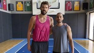 Marc Gasol, después de un entrenamiento durante el parón de la NBA.