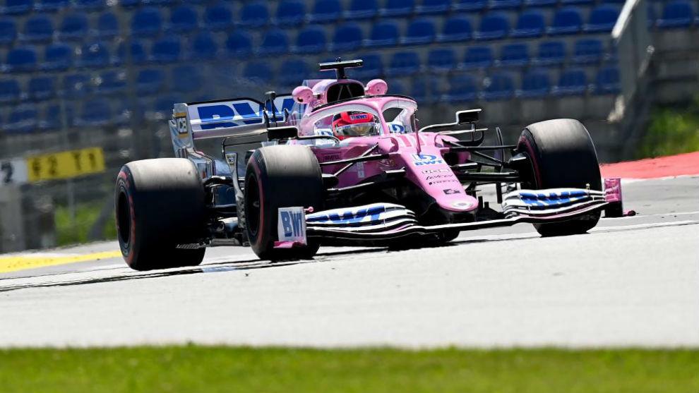 Checo Pérez, mejor tiempo con el Racing Point en los Libres 1 del GP...