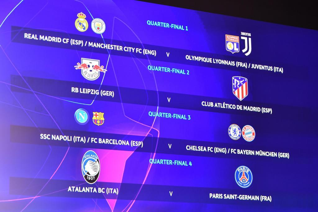 Así quedó el sorteo de la Champions League.