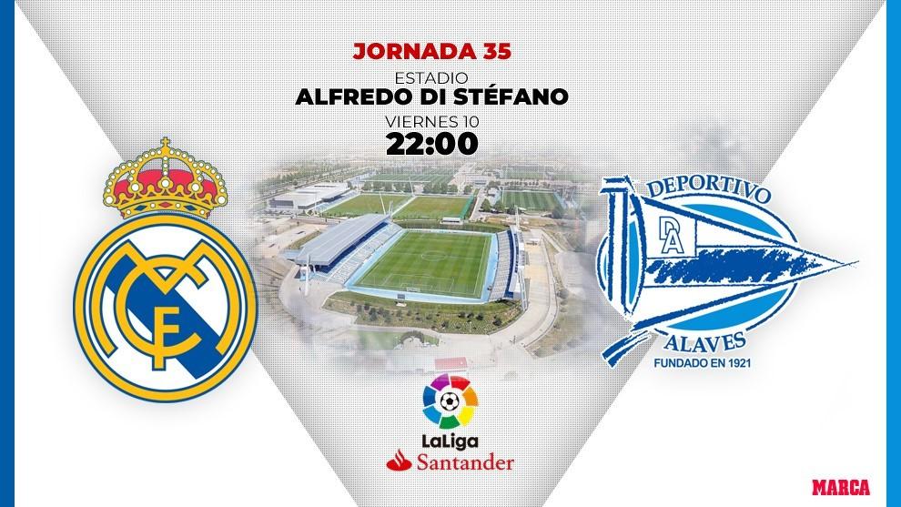 Real Madrid Alaves hora canal donde ver en tv hoy