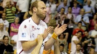 Olafur Stefansson, al término del partido de la final de la Liga de...