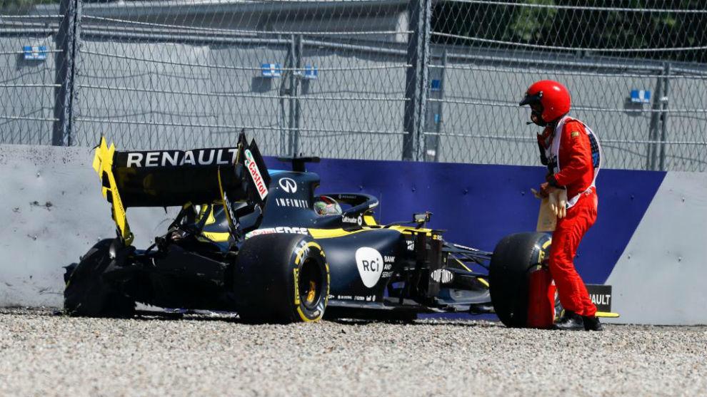 Ricciardo, el susto del día