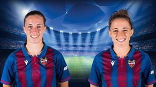 Eva Navarro y Ona Batlle, hasta ahora jugadoras del Levante.