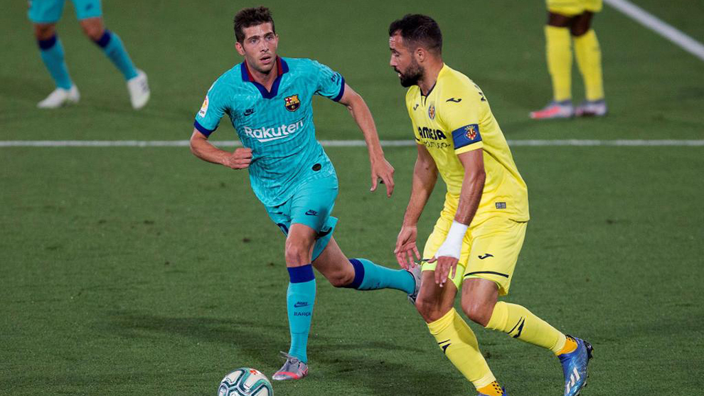 Sergi Roberto against Villarreal.