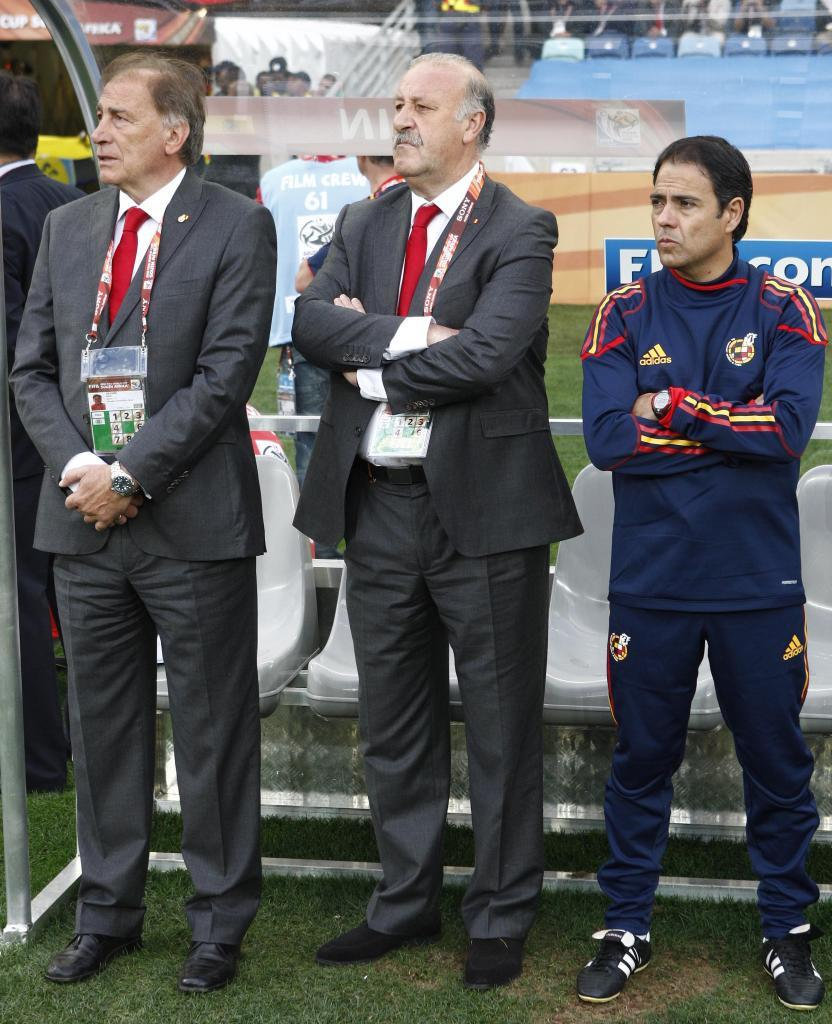 Grande, Del Bosque y Miñano en el baquillo.