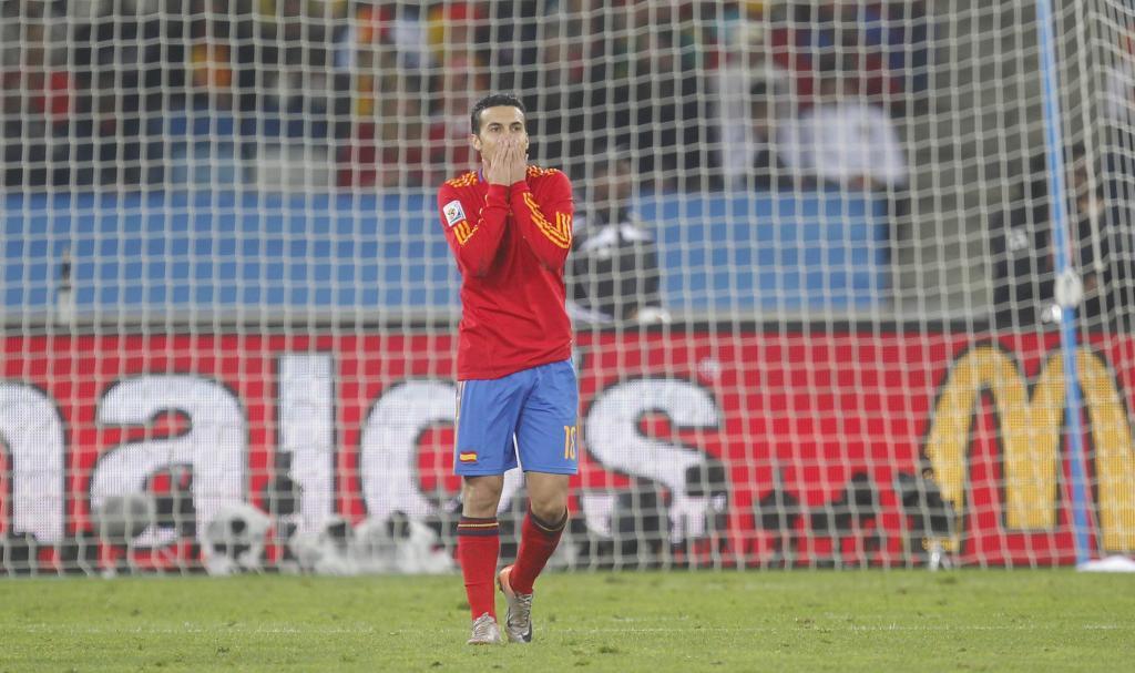 Pedro Rodríguez se lamenta en el campo.