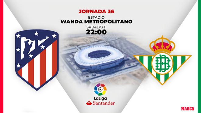 Atlético - Betis: Horario y dónde ver el partido por TV de la jornada 36 de Liga