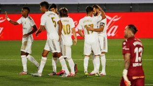 Tras la anotación de Karim Benzema.