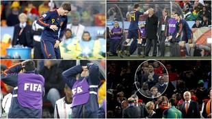 Imágenes inéditas: lo que no viste de la final del Mundial 2010 entre Holanda y España