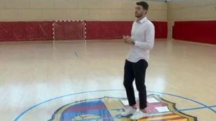 Haniel Langaro, durante una entrevista con Barça TV.
