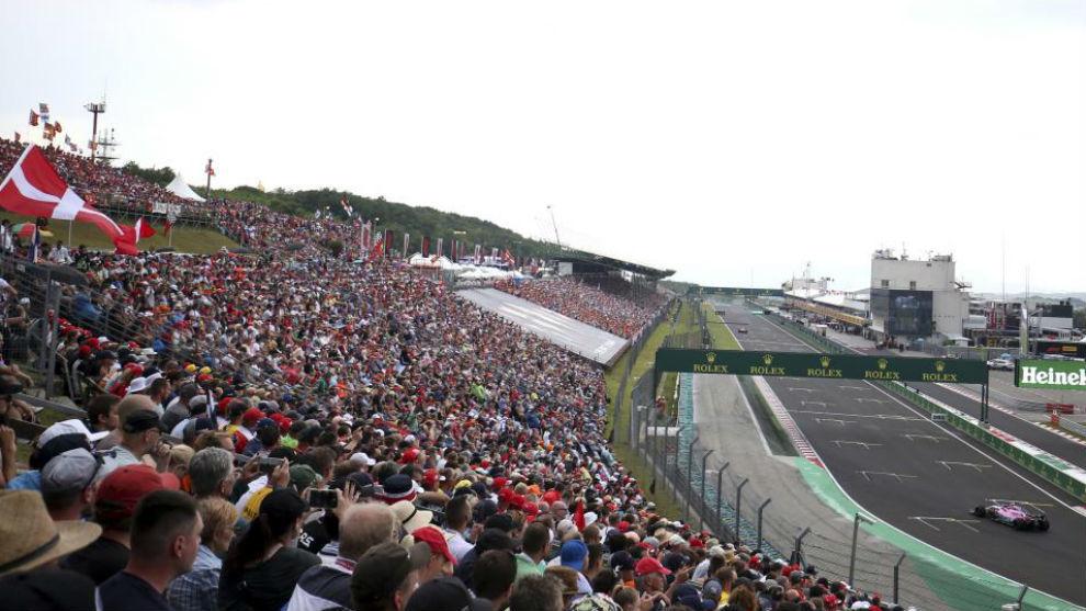 La recta principal del circuito de Hungaroring.