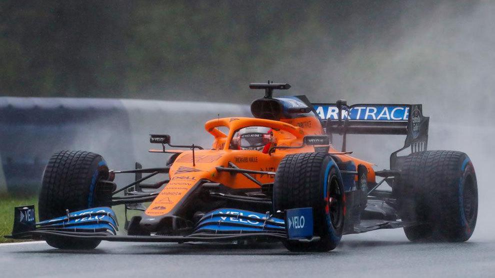 Carlos Sainz, en plena acción.