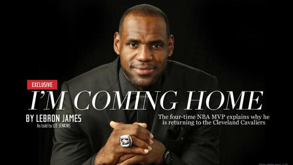 """Seis años del legendario """"vuelvo a casa"""" de LeBron que cambió el destino de la NBA"""